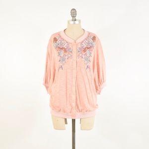 Lulumari Embroidered Cotton Jersey Blouse